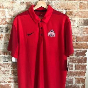 New Men's Nike Ohio State Sideline Polo